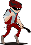 comic cartoon burglar